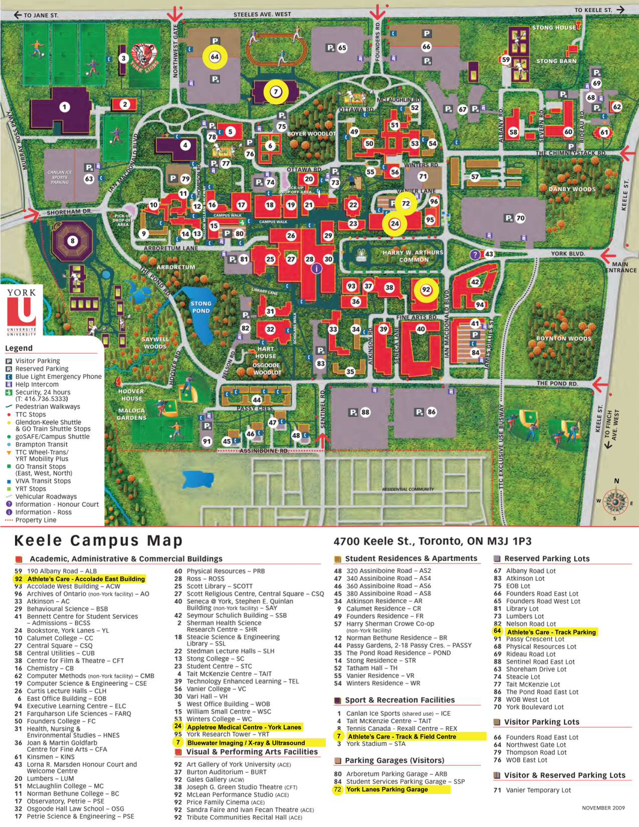 York U Campus Map Athlete's Care Toronto Physiotherapy Sports Medicine Doctors  York U Campus Map